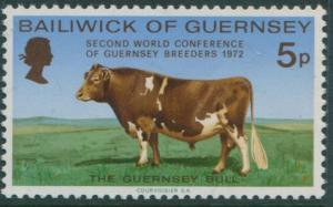 Guernsey 1972 SG71 5p Bull MNH