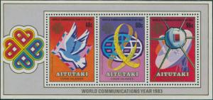 Aitutaki 1983 SG469 World Communications Year MS MNH