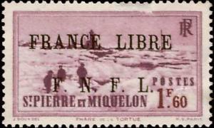 Saint Pierre & Miquelon Scott 243 Unused no gum with thin.