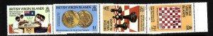 Virgin Is.-Sc#462-5-unused  NH set-World Chess Federation-id2-1984-