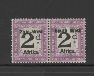 SOUTH WEST AFRICA #J29  1924  2p  POSTAGE DUE    MINT VF LH O.G