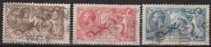 Great Britain #179-81 F-VF Used CV $360.00 (B8428)