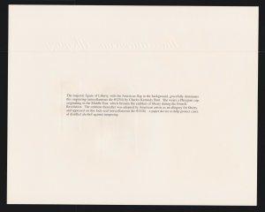 US 1997 The American Allegory Souvenir Card #B215
