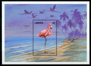 Liberia Birds on Stamps 1998 MNH Flamingos Flamingo Fauna 1v Set