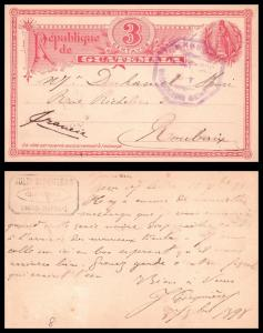 Goldpath: Guatemala postal card, 1898, To France , CV23_P13