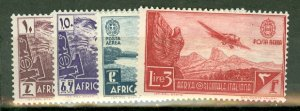 F: Italian East Africa 1-20, C1-11, CE1-2 mint CV ; scan shows only a few