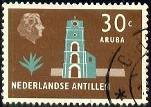 Fort Willem III, Aruba, Netherlands Antilles SC#250 used