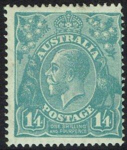 AUSTRALIA 1926 KGV 1/4 SMALL MULTI WMK PERF 14