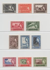 Malaya Malacca - 1957 - SG 39-49 - MNH #5