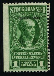 Scott #RD104 VF $1 Bright Green - Stock Transfer Stamps - MNH - 1941