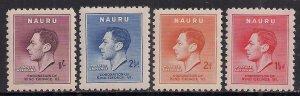 Naura 1937 KGV1 Set of Coronation MM SG 44 - 47 ( 1131 )