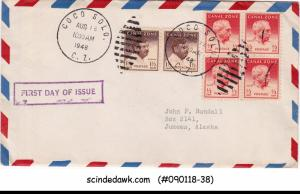 CANAL ZONE - 1948 George Davis AND Charles Magoon DEFINITIVES - 6V - FDC