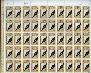 US SCOTT# 2361 CERTIFIED PUBLIC ACCOUNTANTS FULL SHEET OF 50 STAMPS MNH AS SHOWN