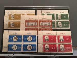 Germany DDR 1960 Berlín Charity and Humboldt Universary MNH stamps blocks R23802