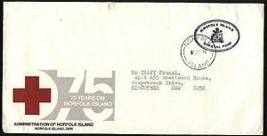 NORFOLK IS 1990 Red Cross commem Official mail cover to NSW.............94005W