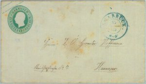 89241 - GERMANY Hannover - Postal History - STATIONERY COVER # U1 Osnabruck 1857