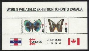 Neth. Antilles Butterflies 'CAPEX 96' MS SG#MS1192