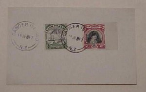 COOK ISLANDS DANGER ISLAND 1947 CARD