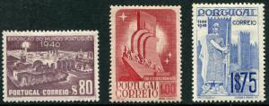 PORTUGAL # 592 - 594 VF Hinged Issues HI VALUE - KING ALFONSO DISCOVERY  - S6175