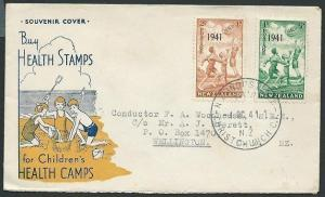 NEW ZEALAND 1941 Heath commem FDC, Industrial Ex Christchurch cds..........42201