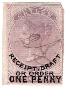 (I.B) Ceylon Revenue : Receipt 1d on ½d OP