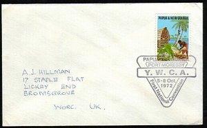 PAPUA NEW GUINEA 1972 cover - YWCA Convention commem postmark..............18139