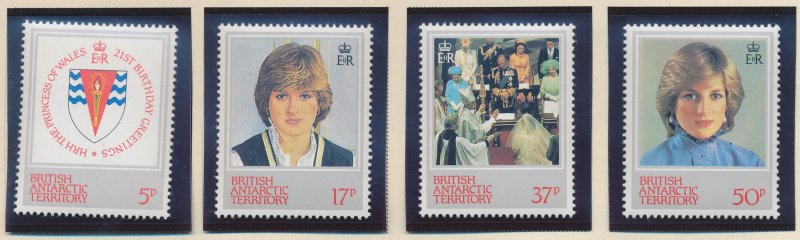 British Antarctic Territory (B.A.T.) Stamps Scott #92 To 95, Mint Never Hinge...