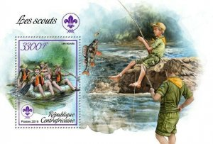 HERRICKSTAMP NEW ISSUES CENTRAL AFRICA Scouts S/S