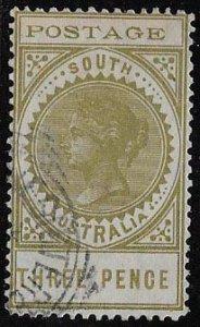 South Australia, SC 121, three pence, used