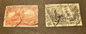 GERMANY #s 62 & 64 USED CV $ 46.75