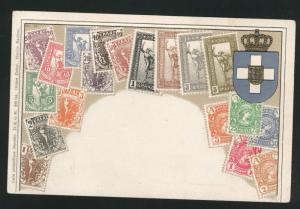 Greece embossed Zieher embossed stampcard No.15.