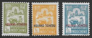 France-Offices in China  Scott 75-77 Mint