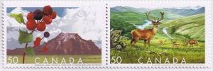 Canada Mint VF-NH #2106a Biosphere Reserves pair
