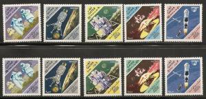 Qatar 123-3J 1967 Moon flight set NH