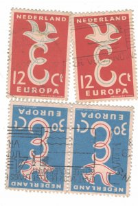 718 - Netherlands (12 C) 1958 - Postage stamps EUROPA Stamps [Set of 2 stamps