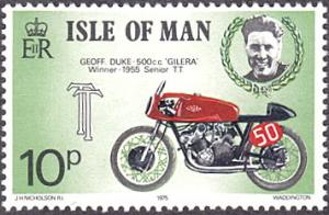 Isle of Man # 68 mnh ~ 10p Motorcycle and Race Driver