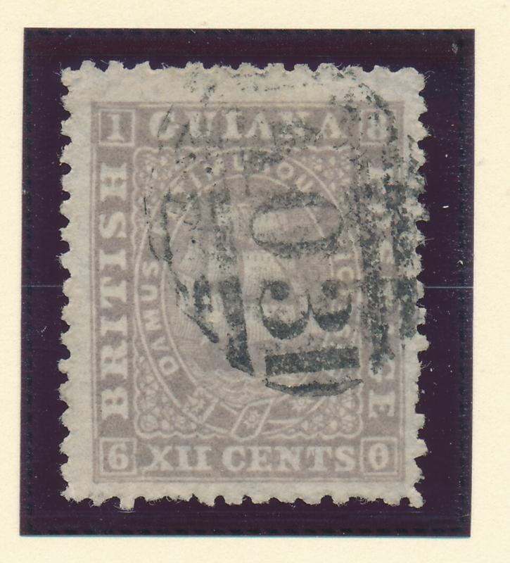 British Guiana Stamp Scott #21, Used - Free U.S. Shipping, Free Worldwide Shi...
