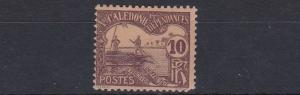 FRENCH COLONIES  NEW CALEDONIA  1906     10C  BROWN BUFF      P/DUE MH