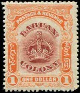Labuan SC# 109 Crown $1.00 MH