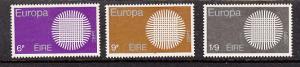 Ireland SC# 279-81   1970 Europa set MH