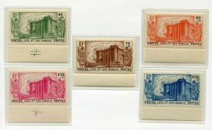 French Somali Coast Scott B3-7 B7 French Revolution Bastille 1939 Mint NH