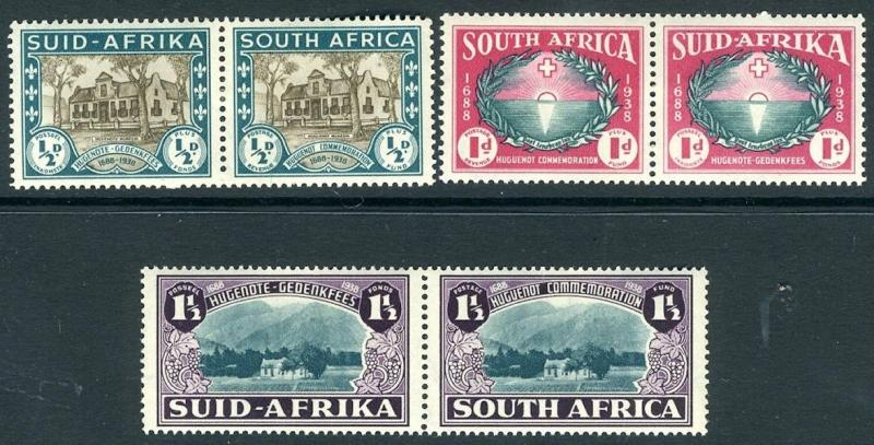 SOUTH AFRICA-1939 Huguenot Set Sg 82-84 UNMOUNTED MINT V15713
