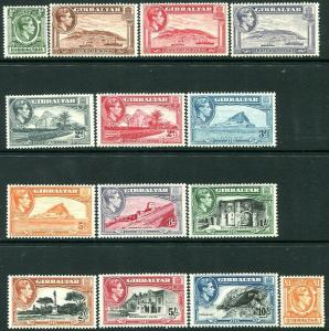 GIBRALTAR-1938-51 Set to £1 Sg 121-131 Fine Mint (Majority Unmounted)  V30164