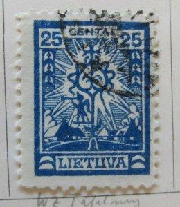 A11P5F41 Litauen Lituanie Lithuania 1923 Wmk Parquetry 25c used