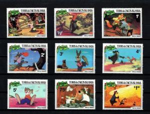 TURKS & CAICOS - 1981 - DISNEY - UNCLE REMUS - BRER BEAR + 9 X MINT - MNH SET!