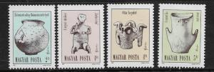 HUNGARY  3065-3068 MNH NEOLITIC COPPER AGE ARTIFACTS SET 1987