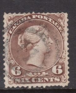 Canada #27 Used With 2 Ring 11 Cancel