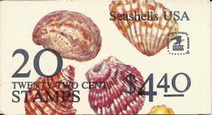 United States 1982 sea shells complete booklet Sc# BK146