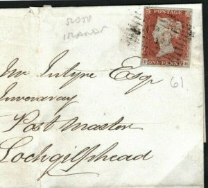 GB Scotland Cover Argyllshire *Lochgilphead* Campbeltown Perth Prison 1848 J163