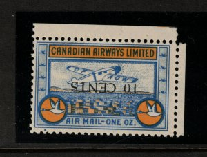 Canada #CL52 Very Fine Never Hinged Inverted Surcharge **With Certificate**